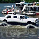 funny photo of monster tire limo