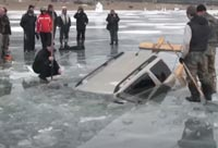 Car Pulled from a Frozen Lake