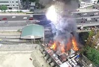 Fire Brings down A High-Voltage Tower