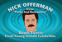 Offerman Reads Starlet Tweets