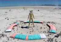 Drone's view of Burning Man